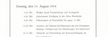 BSV Süden: Festfolge 1954
