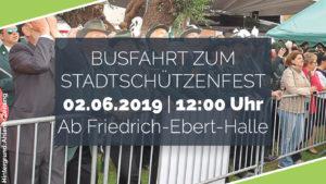 Gemeinsame Busfahrt zum Stadtschützenfest 2019 nach Dolberg @ Start: Friedrich-Ebert-Halle Ahlen | Ahlen | Nordrhein-Westfalen | Deutschland